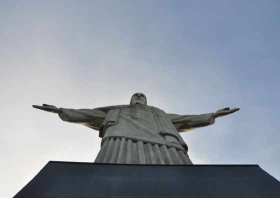 Christ the Redeemer Statue Print/Poster. Sizes: A4/A3/A2/A1 (003321)